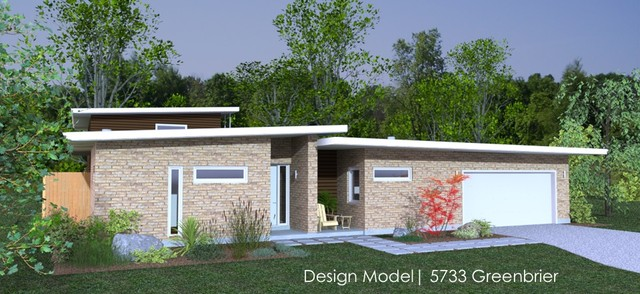 Design Model - 5733 Greenbrier, Dallas TX modern exterior