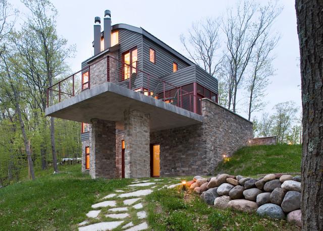 DeWitt Lake House contemporary-exterior