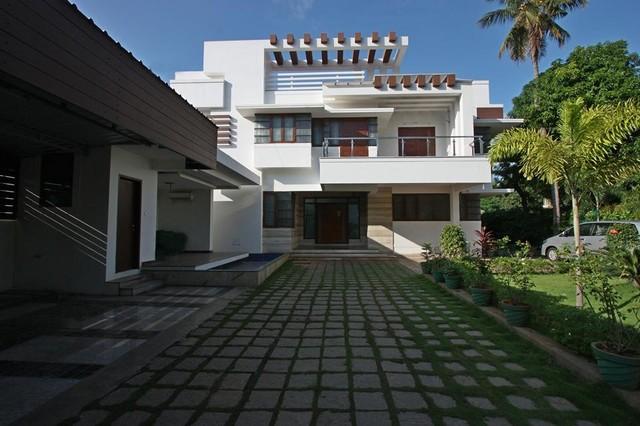 Dheen house kumbakonam contemporary exterior chennai House architecture chennai