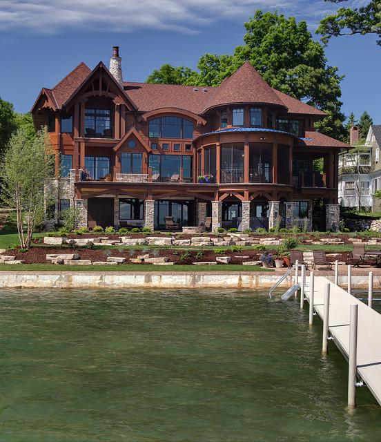 Diamond Lake 3 Rustic Exterior Chicago By Helman