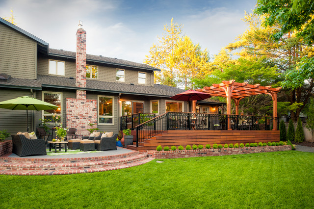 Dickson property traditional exterior portland by for Paradise restored landscaping exterior design