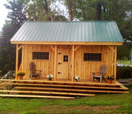 diy Tiny House Plans ($50) - Vermont Cottage (Option A