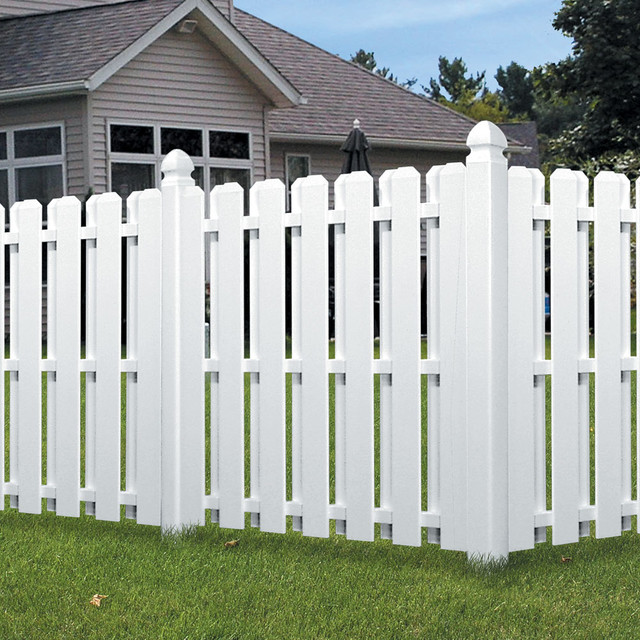 Dog Ear Shadowbox Fence Traditional Exterior Cleveland By Veranda Products Built