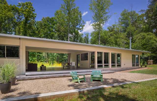 Dog trot house charlottesville va modern exterior Home run architecture