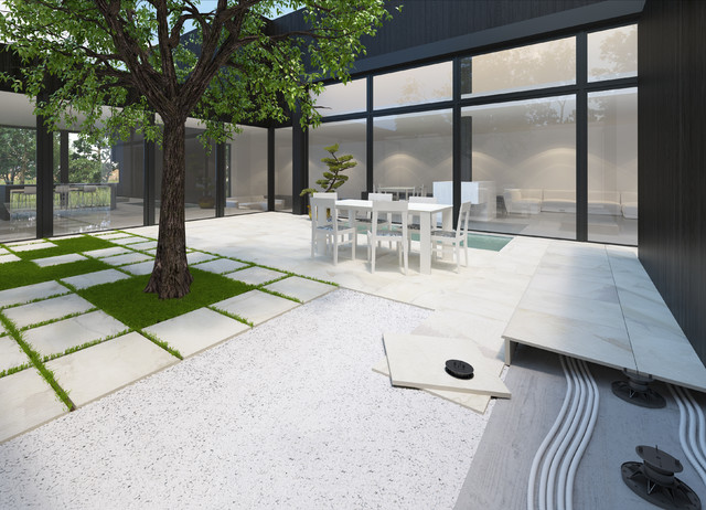 Domestic And Commercial Porcelain Pavers Rustic Exterior Brisbane By