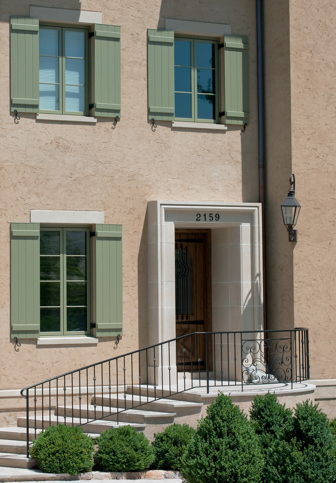 Tuscan beige exterior home photo in DC Metro