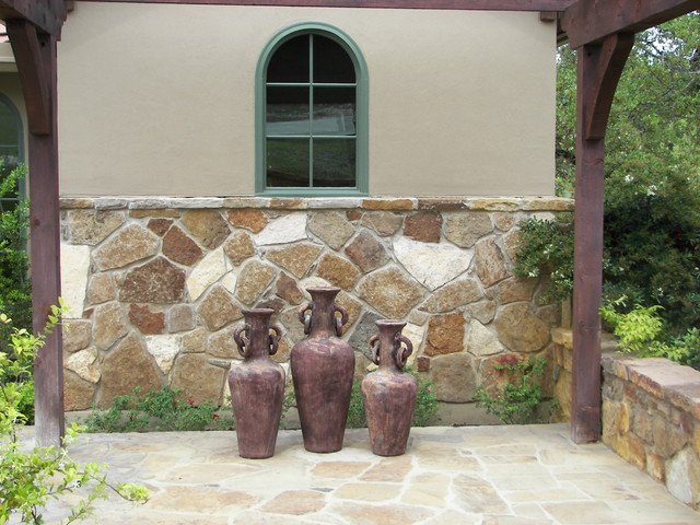 Dripping Springs courtyard mediterranean-exterior