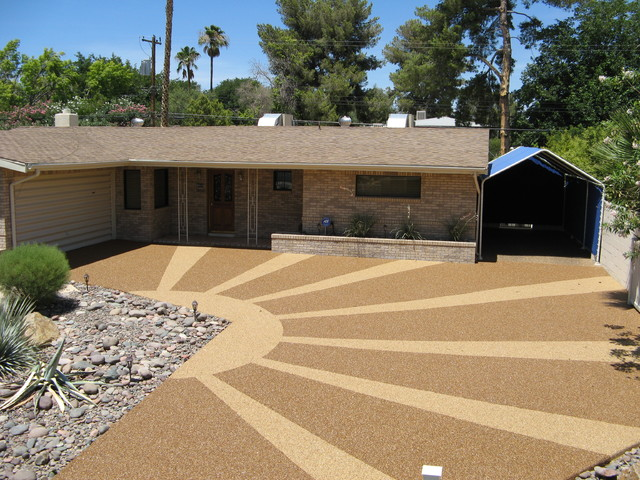 Driveways Traditional Exterior Las Vegas By Pebble
