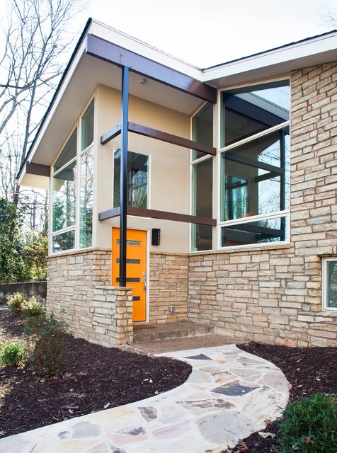 midcentury exterior by renewal design build