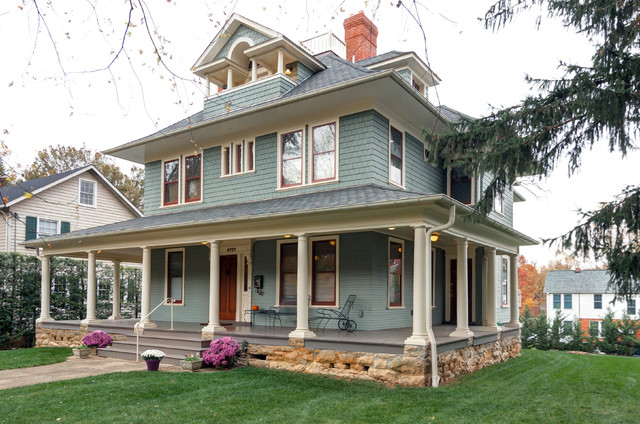 Drummond house traditional exterior dc metro by elise moore design - Historic colonial house plans paint ...