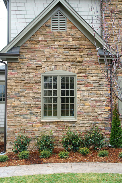 Dry stack stone exterior house 2017 2018 best cars reviews for Exterior home accents