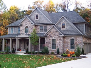 Astonishing Dry Stack Stone Siding For Home Exterior Accents Traditional Largest Home Design Picture Inspirations Pitcheantrous