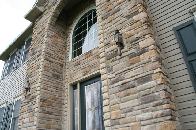 dry stack stone siding for home exterior accents traditional exterior other by provia