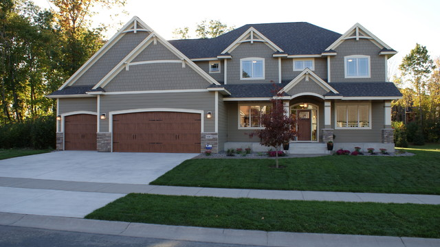 Dunlavin woods two story home traditional exterior for Exterior design of 2 storey house