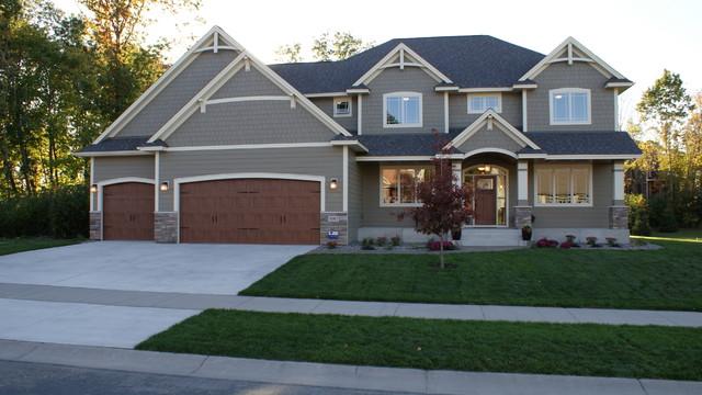 Traditional exterior home idea in Minneapolis & Dunlavin Woods Two Story Home - Traditional - Exterior - Minneapolis ...