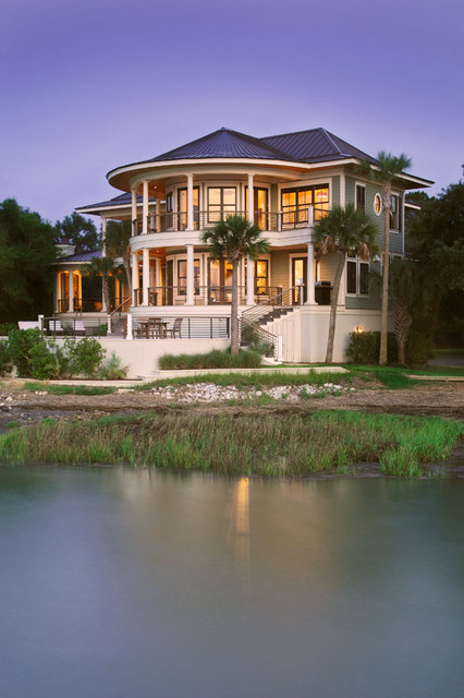 Dusk view from River tropical-exterior