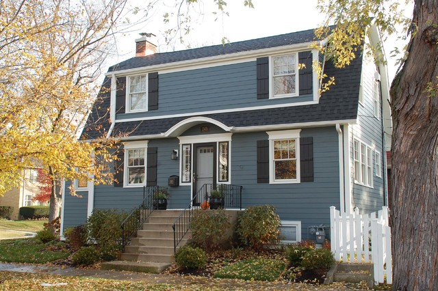 Park ridge il dutch colonial style home in james hardie for Window samples for houses