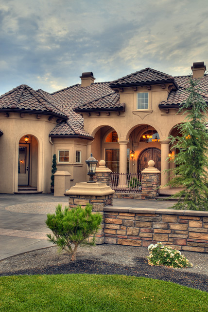 Eagle custom 4 mediterranean exterior boise by for Tuscany houses