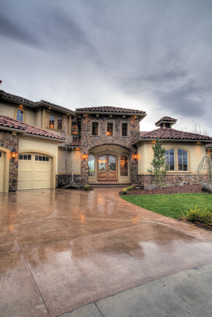 Eagle, Idaho Custom Home mediterranean-exterior