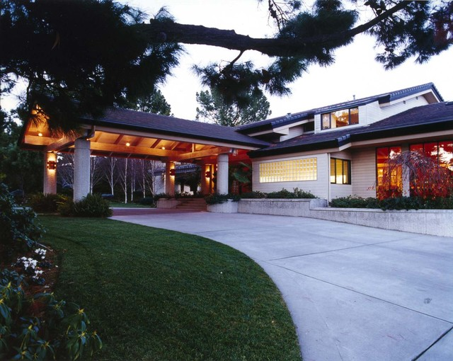Early work 90s porte cochere contemporary exterior