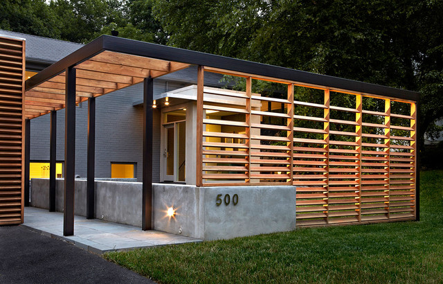 Architectural Deck Screening : East jefferson residence contemporary exterior dc