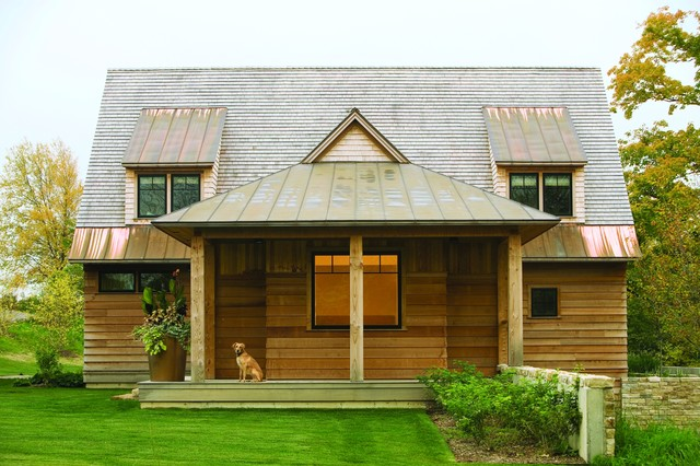 East-West House rustic-exterior
