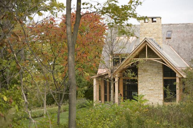 East West House Rustic Exterior Burlington By