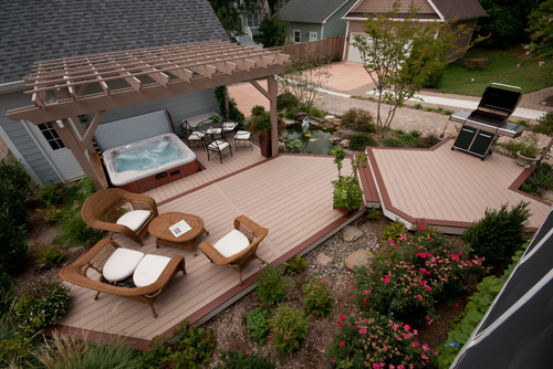 Smaller Deck With Landscaping