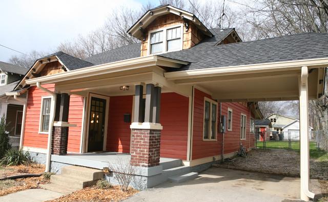 Eastside bungalow craftsman exterior nashville by for Craftsman carport