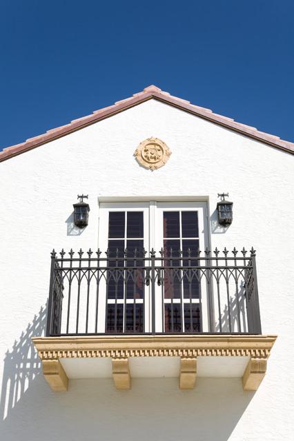 Ecclesiastical Courtyard Home mediterranean-exterior