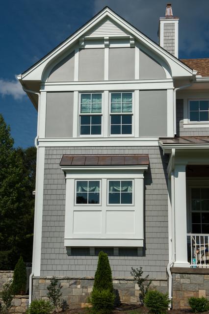 Eclectic cape cod tudor anderson sc traditional for Cape cod exterior design