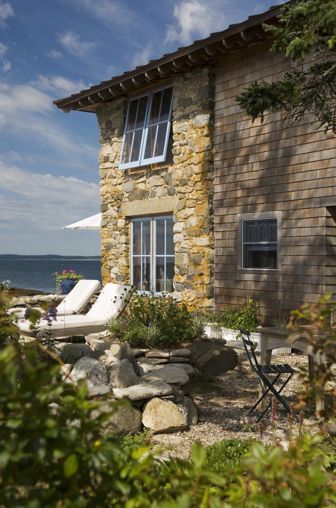 Rustic stone exterior home idea