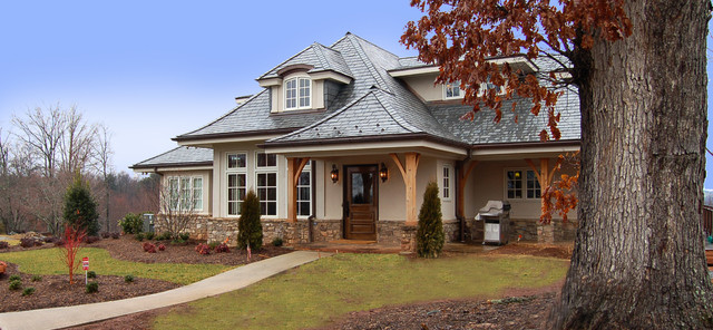 Mountain Home New Construction eclectic exterior