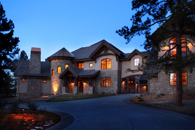 Eclectic French Country Colorado Mountain Home Eclectic