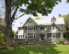 Eclectic Modern Tudor Exterior traditional-exterior