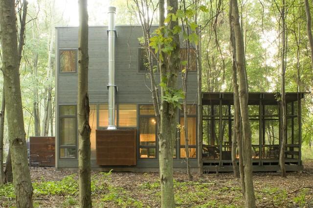 Eco-Friendly Vacation Home Exterior rustic-exterior