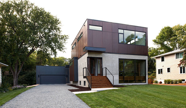 Edina house modern exterior minneapolis by for Building a house in minnesota