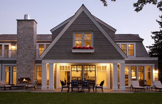 Edina Shingle Style Residence - Contemporary - Exterior ...