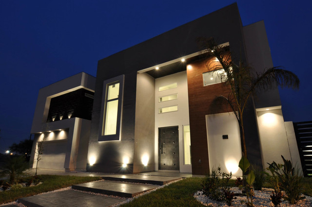 Edmo house for Exterior home lighting design