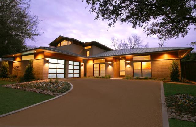 Inspiration For A Contemporary Brick Exterior Home Remodel In Dallas
