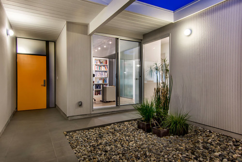 Eichler Atrium - Orange Front Door