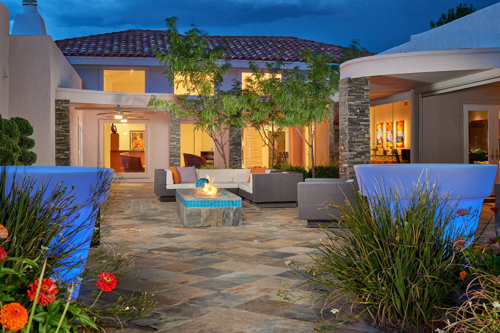 Example of a trendy exterior home design in Other
