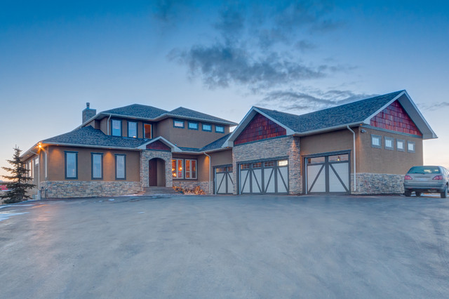 Elegance Cochrane Country Home - Traditional - Exterior - calgary - by ...