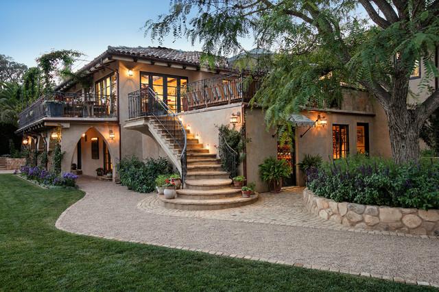 Elegant hillside home mediterranean exterior santa for Elegant mediterranean homes