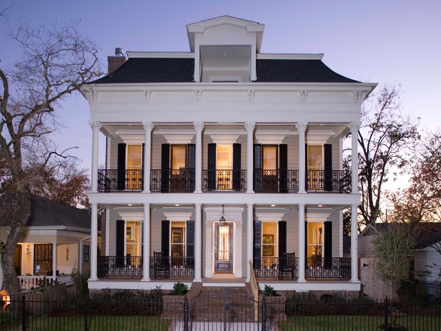 Front Elevation Traditional : Elevations traditional exterior houston by creole