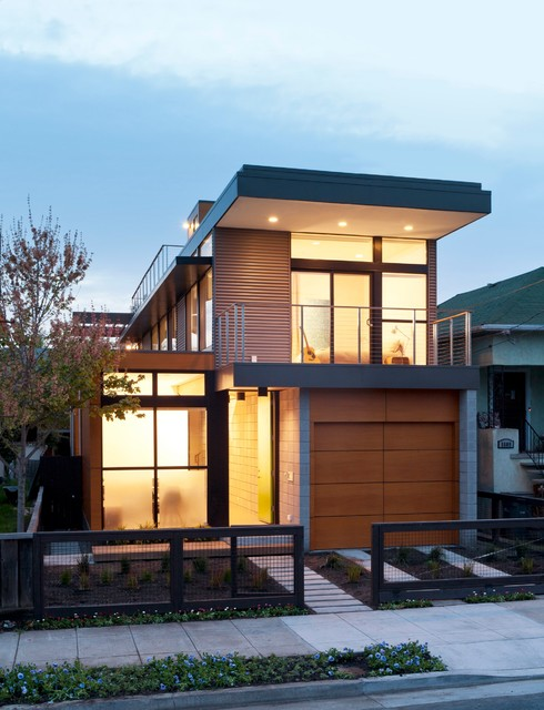Emeryville residence contemporary exterior san for Contemporary home plans under 100k
