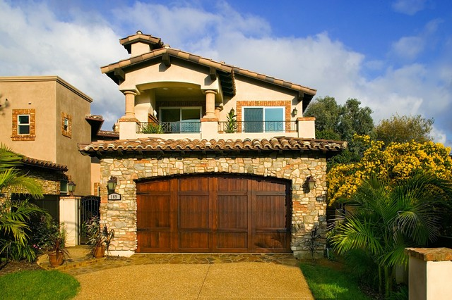 Encinitas tuscan style home 3 mediterranean exterior for Tuscany style homes
