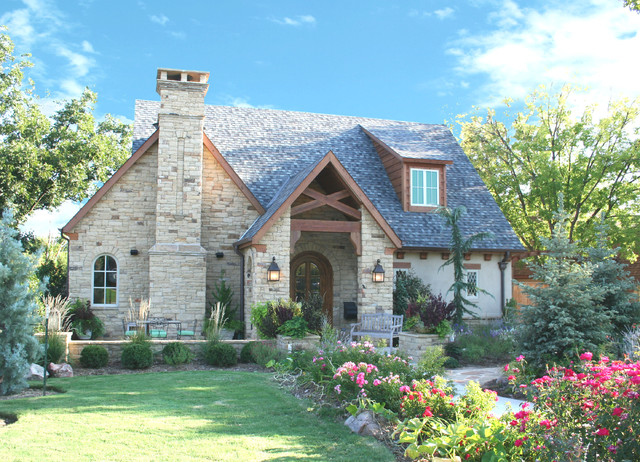 English cottage traditional exterior oklahoma city for English cottage style house plans