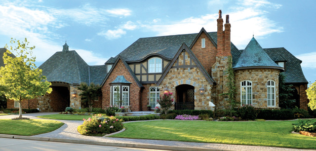 English manor traditional exterior oklahoma city for Classic english house