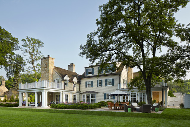 English Manor Renovation traditional-exterior